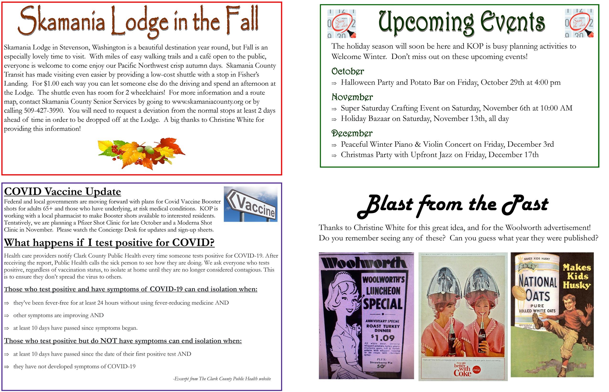 October 2021 Tidbits page 2